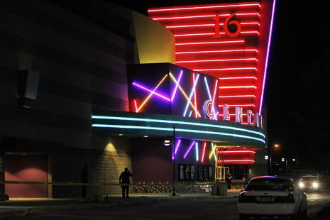 """Article, New Yorker: """"A Shooting in a Movie Theatre"""" by Anthony Lane, writing on how the movie's content had nothing to do with the tragedy."""