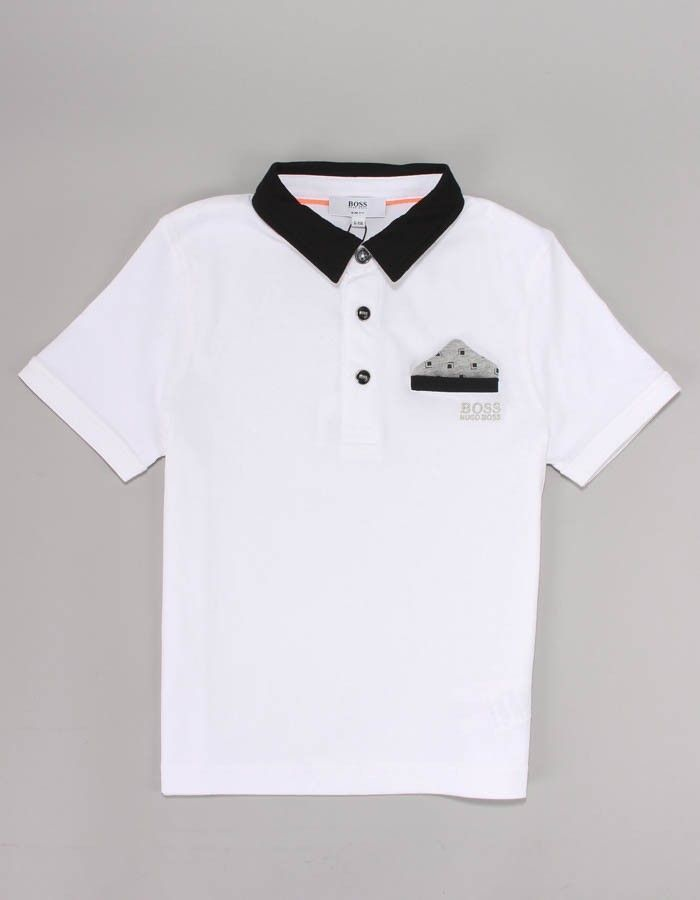 Boss White Pocket Polo Shirt | Accent Clothing