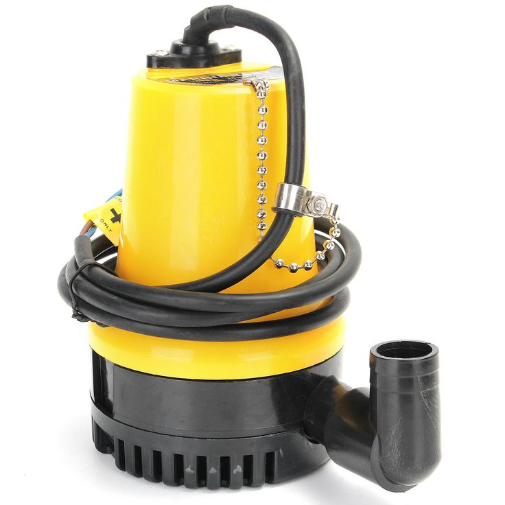 "12V 1620GPH 6000L/H Submersible Water Pump Clean Clear Dirty Pool Pond Flood  Description: Material: Plastic Color: Yellow Black Operating voltage: DC 12V Power: 50W Water Temp: 060 Voltage allowable deviation: 10% Flow rate: 6000L/H (1620GPH) approx Type: Open Impeller type (single suction) Motor speed: 4500RMP Wire length: 1.64m Outlet: 25mm/0.98""(appr.) Size: (Dia.)X(H)10X16cm /3.94''X6.3''(appr.) Features: Made of plastic material stable and durable. Great for clean or dirty water. Can…"