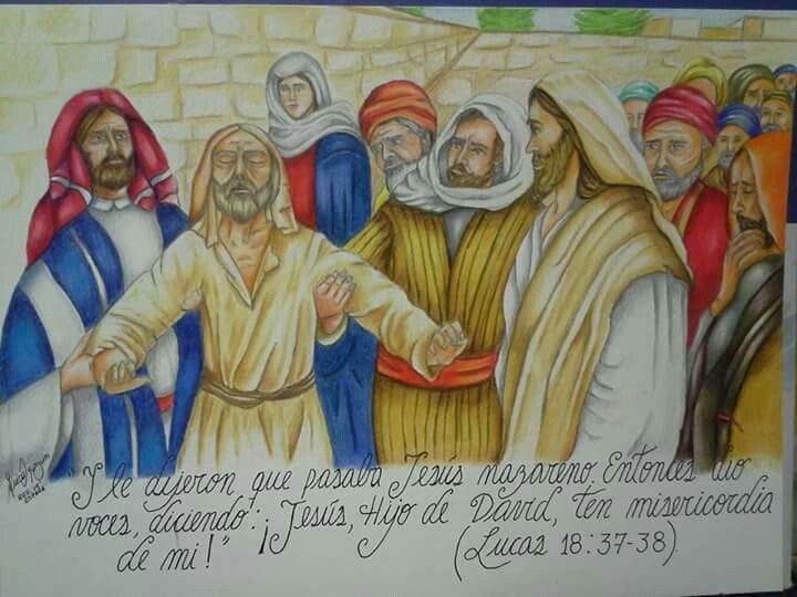 Escena Bíblica a lápiz