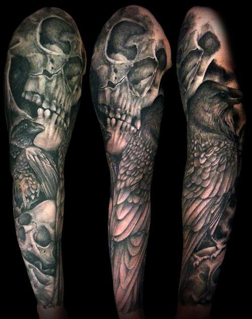 skull and roses tattoos for women - Cerca con Google