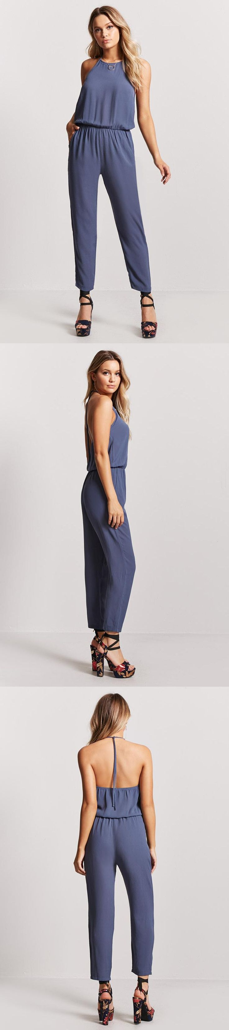 Crepe Woven Halter Jumpsuit // 17.90 USD // Forever 21