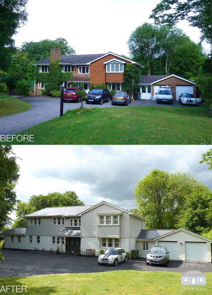 How to transform your house! A New England style makeover, complete with weatherboard and new windows and doors.