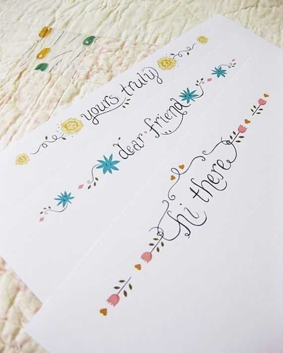 31 best snail mail printable stationery images on pinterest free hand drawn floral printable pdf stationery set spiritdancerdesigns Gallery