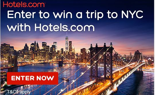 Enter for a chance to win a dream trip to New York with Hotels com. Click here http://tidd.ly/577a3517 to enter.  Enter our prize draw for the chance to win a holiday for two to New York City, including flights and a four-night stay at the 4* hotel