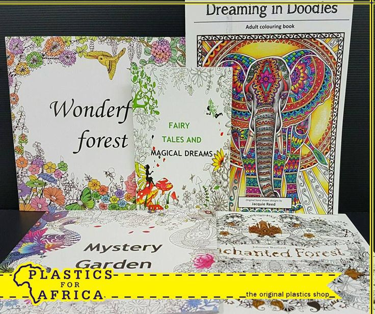 NEW at #PlasticsforAfrica! This range of adult colouring books just arrived. Pop in at your nearest branch today!