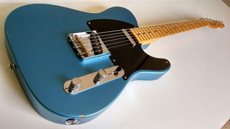 Fender Telecaster Baja in Lake Placid Blue (rare color for this model) for 550€ at harryguitars.com
