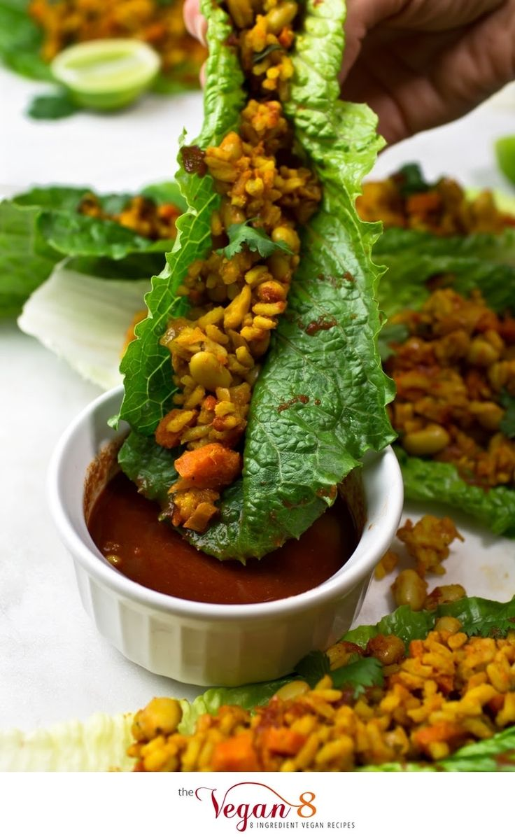 Wraps de Laitue au Curry thaïlandais épicé / Spicy Thai Curry Lettuce Wraps  @TheVegan8 #thevegan8  @Mj0glutenVG #0GlutenVegeBrest  #sansgluten #glutenfree #celiac #coeliaque #VEGAN #Laitue #thaïlandais #épicé #Spicy #Thai #Curry #Lettuce #Wrap    http://0-gluten-vege-brest.weebly.com/vegan-sg-monde--vegan-gf-world/wraps-de-laitue-au-curry-thailandais-epice-spicy-thai-curry-lettuce-wraps