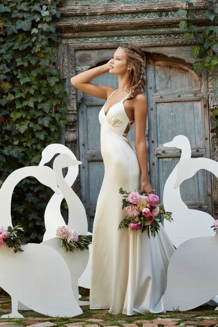 Loving this gorgeous slip type wedding dress ~ Well Dressed: Love Marley 2015 Collection by Watters