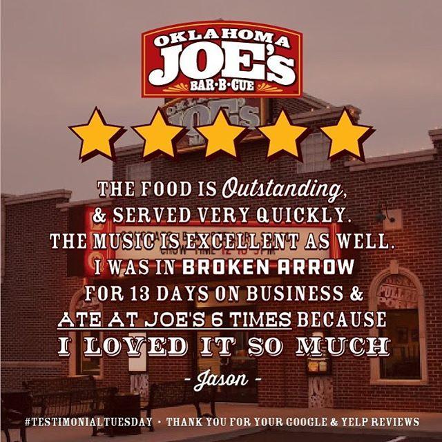We Hope Y All Enjoy Our Broken Arrow Store As Much As Jason Does Testimonialtuesday Enjoyment Broken Arrow Joes Bar