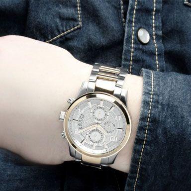 Uurwerk Quartz   Garantie 24 maanden   Materiaal Band Edelstaal   Materiaal Kast Edelstaal   Waterbestendig Ja tot een diepte van 50Meter   Kastvorm Rond   Dames / Heren Guess Heren Horloge   Diameter Horlogekast