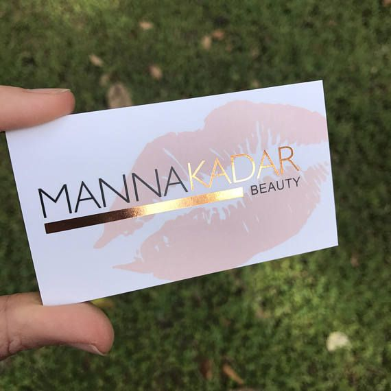Rose Gold Foil Business Cards | perfect for makeup artist, hair stylist, microblading, balayage, cosmetologist, nail artist, hair salon