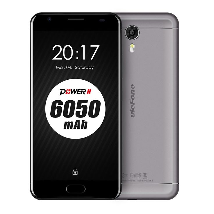 Only US$189.99, grey eu Ulefone Power 2 4G Smartphone 5.5 inches 4GB RAM 64GB ROM - Tomtop.com
