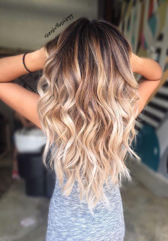 50 Herbst Haarfarbe pro braune blonde Balayage Carmel Frisuren