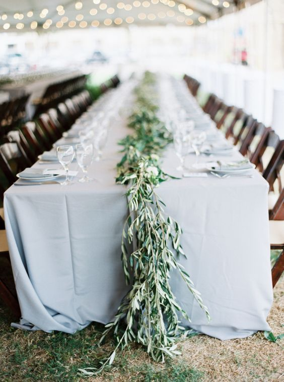 Pretty greenery topped tablescape: http://www.stylemepretty.com/2016/04/11/wedding-with-earthy-floral-greenery/   Photography: Loft Photography - http://www.loftphotography.com/