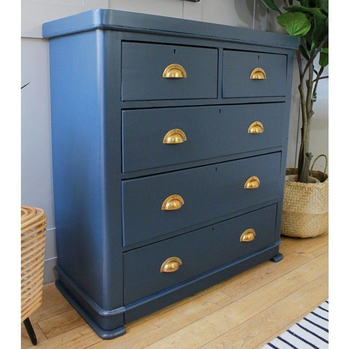 Victorian Chest Of Drawers In Hague Blue New In Furniture Chestofdrawers Chest Of Drawers Makeover Blue Chest Of Drawers Chest Of Drawers Upcycle