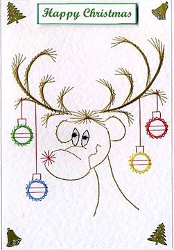 Rudolph - forum gallery stitching card of the week