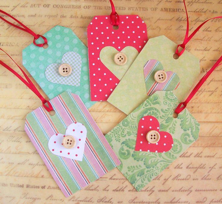 pinterest handmade gifts | Artangel: Handmade Christmas gift tags tutorial