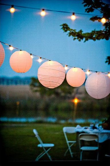 On the blog today - Mood Board: White. #lanterns #party #entertaining #outdoors #decoration #light #lighting #fairy #lights