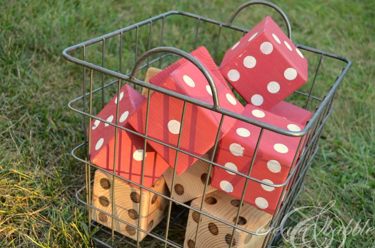 DIY Lawn Dice and RYOBI Giveaway