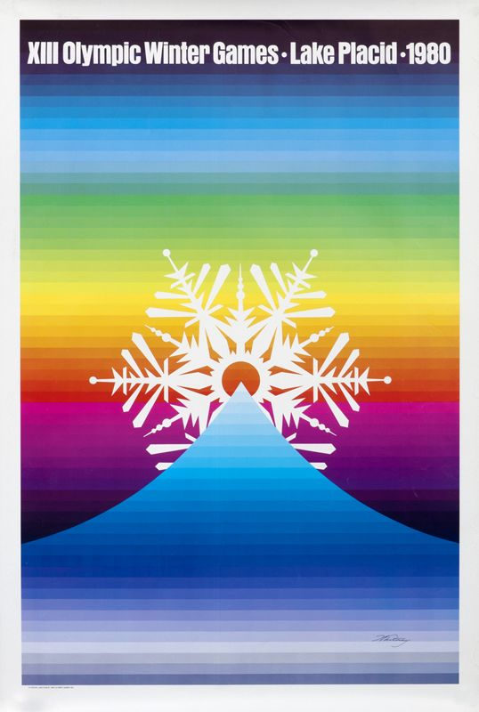Whitney Original Poster: XIII Olympic Winter Games - Lake Placid 1980