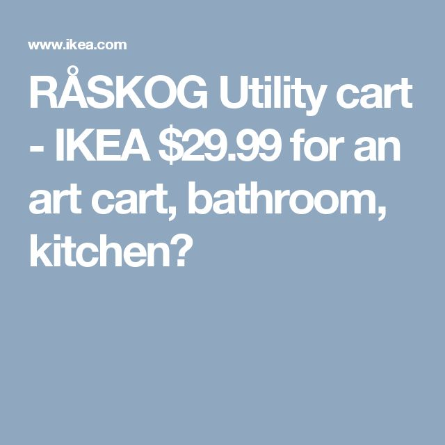 Ikea Console Table Over Bed ~ about Utility Cart on Pinterest  Raskog Cart, Rolling Utility Cart