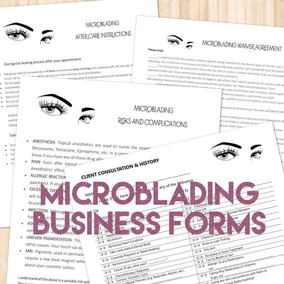 Digital forms that are customized with your logo for your Microblading Business - need this!