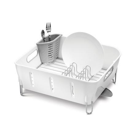 Simplehuman Rack Plain White Plastic Dish Drainer