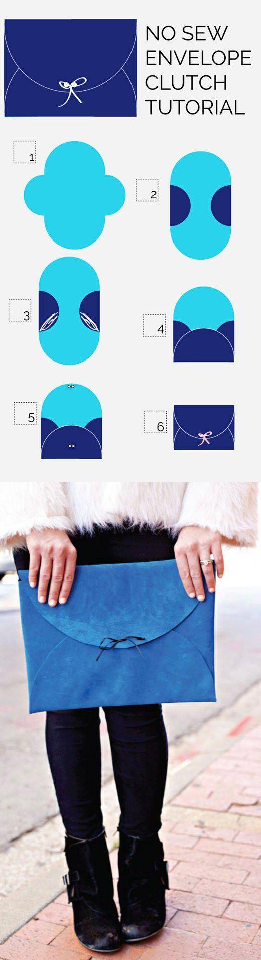 No Sew Envelope Clutch TUTORIAL