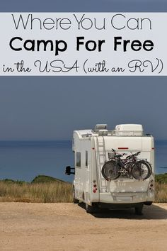 Where you can camp for free in the  USA (with a RV)