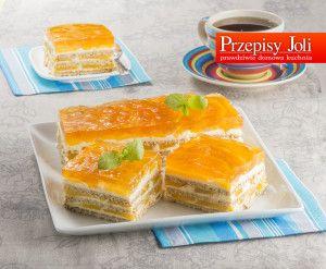 BRZOSKWINIOWA DELICJA BEZ PIECZENIA - najlepszy przepis na pyszne, delikatne ciasto bez pieczenia. To ciasto idealnie sprawdza się na specjalne okazje.