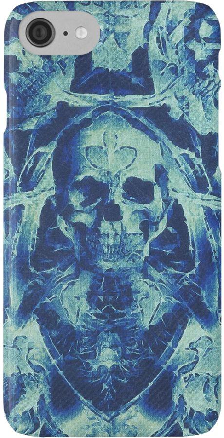 Blaue Totenköpfe (Abstarke Surreale Blue Geister Stunde) von fruity-shapes