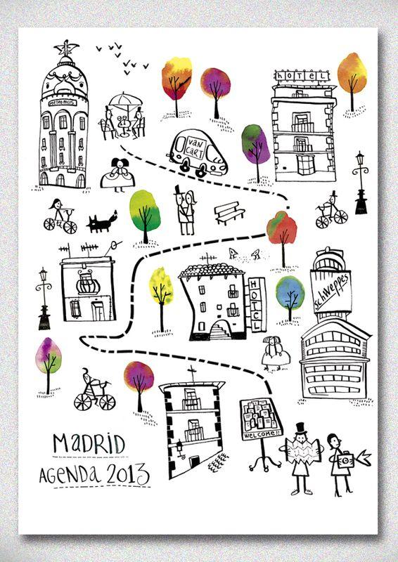 Amaia Arrazola Illustration: Madrid y Barcelona