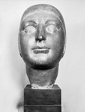 "James Vibert: ""Buste de l'aviateur"", 1939 Sculpture in bronze, Dimensions 9.5 x 0 cm (object scale) Current Location: Swiss Confederation, Federal Office of Culture, Bern."