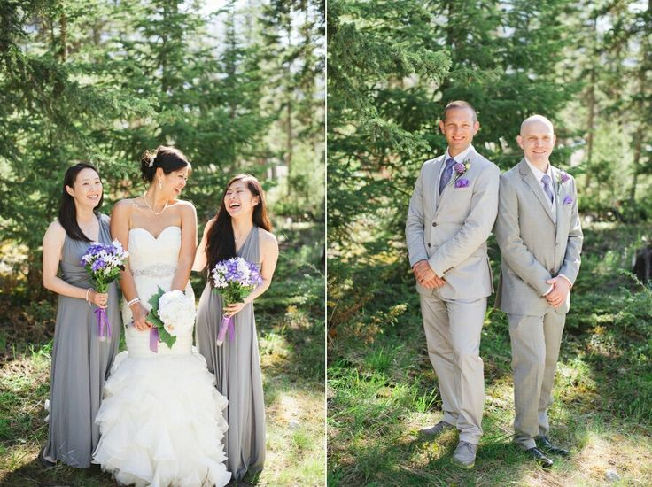 Maggie Sottero Divina Dress / Canmore Wedding / Grey  Purple @kristynhphoto