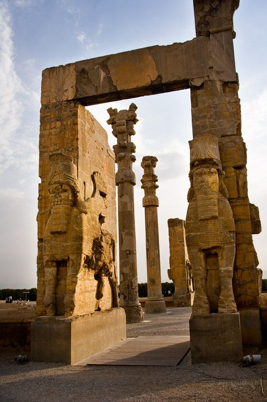 (Iran the ancient Persia)  Persepolis: The magnificent palace complex at Persepolis was founded by Darius the Great around 518 B.C.