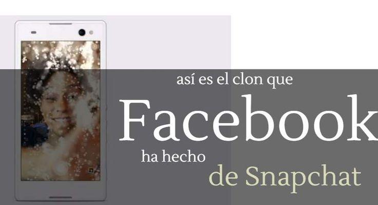 #Facebook #cámara #snapchat Facebook está probando su propia versión de Snapchat