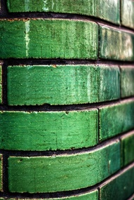 Such a striking alternative to traditional brick, in bright emerald green
