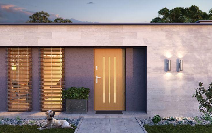 Drzwi zewnętrzne drewniane płytowe CAL Somma kolekcja Vocal  #vox #wystrój #wnętrze #drzwi #inspiracje #projektowanie #projekt #remont #pomysły #pomysł #interior #interiordesign #moderndoors #homedecoration #doors #door #drewna #wood #drewniane #drzwizewnętrzne #dom #mieszkanie