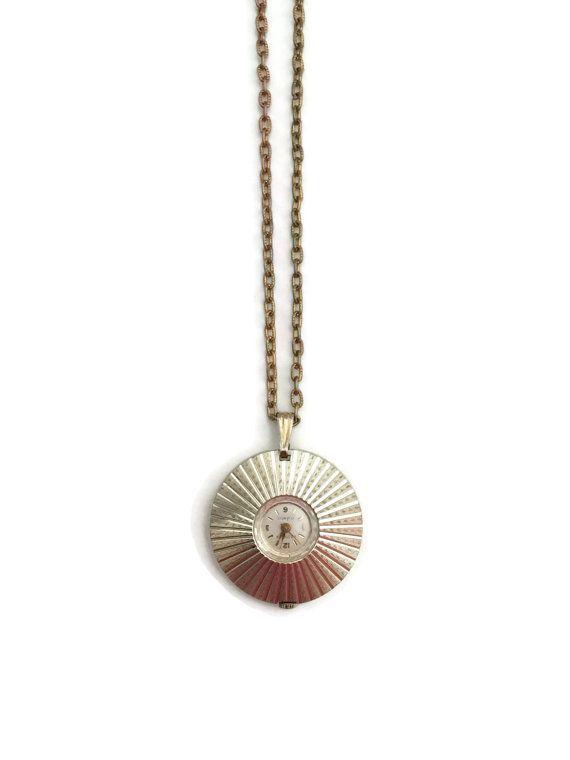 Wind Up Watch Pendant Watch Necklace by TreasuresFoundShoppe #vogueteam #vintage