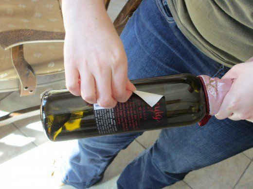 How to Remove Wine Labels for Art and Scrapbooking