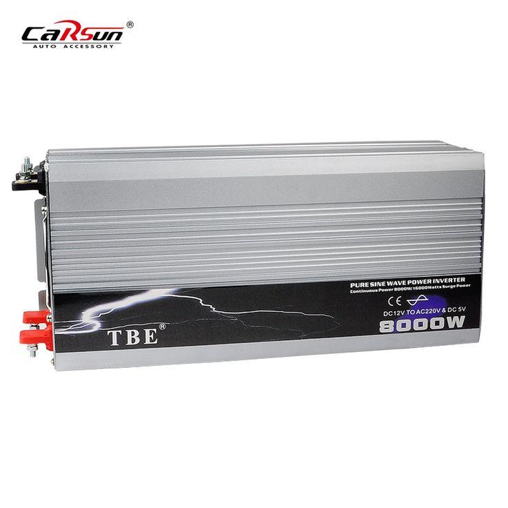 8000W Power Inverter DC 12V to AC 220V Pure Sine Wave Off Grid Inverter Solar Power Inverter 8000W Car Converter