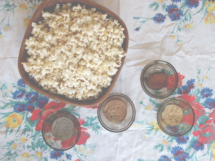 popcorn seasonings: cuz the Wild Rose Cleanse allows popcorn!