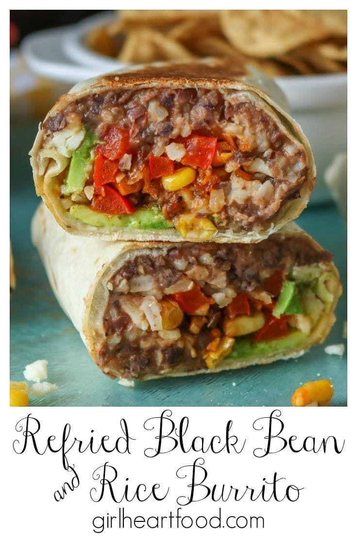 Vegetarian Burrito Recipe Refried Beans