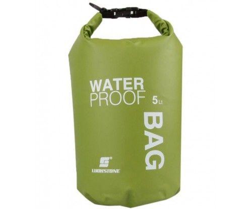 Vízhatlan rafting - kenus - vízitúra zsák, túrazsák, táska. Térfogata 5 liter, műanyag csattal záródik.