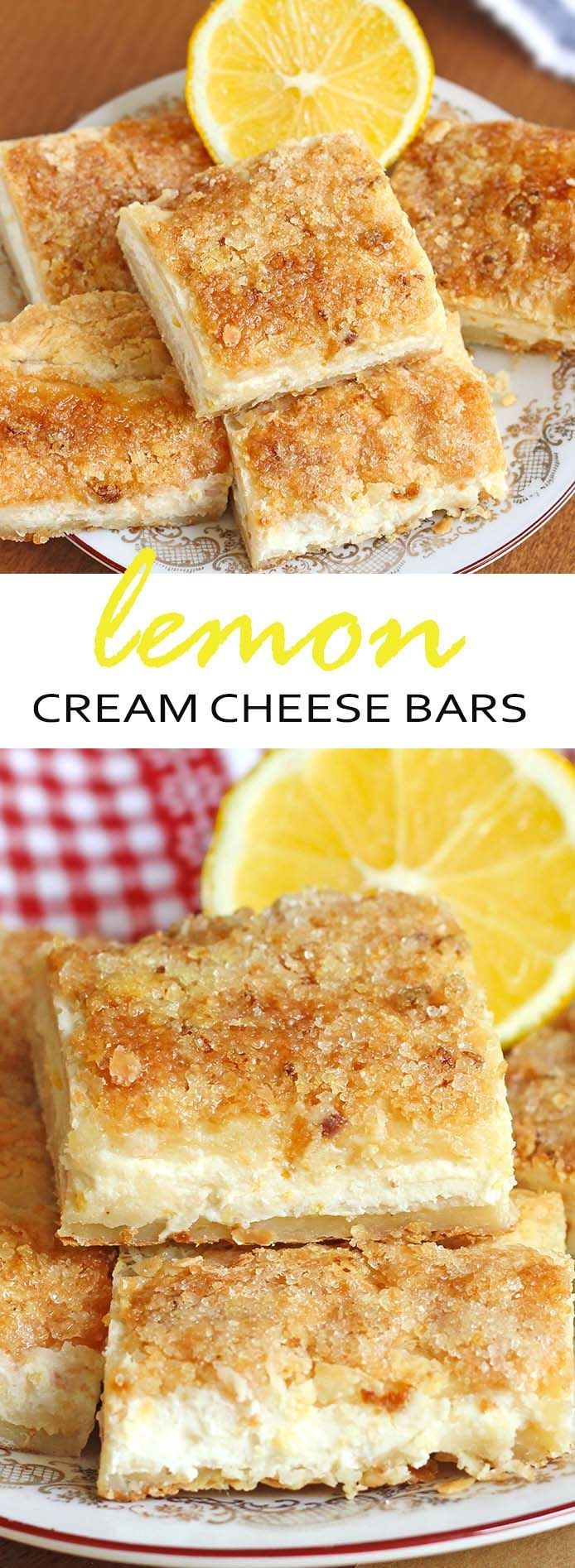 One word describes this easy lemon cream cheese bars recipe -- EXCELLENT.