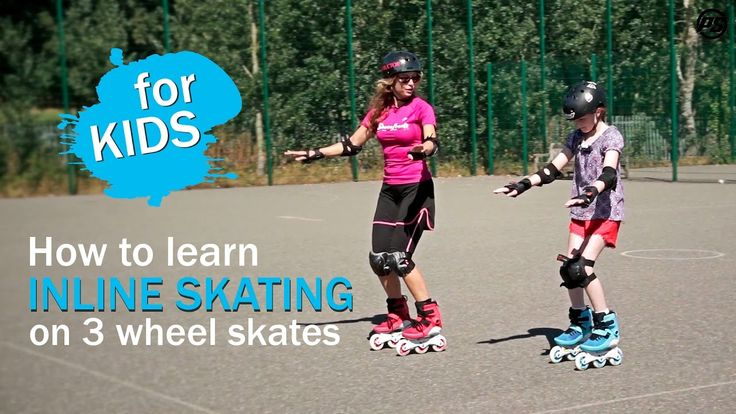 How to learn INLINE SKATING on 3 Wheel Skates for KIDS - BASICS - Powers...
