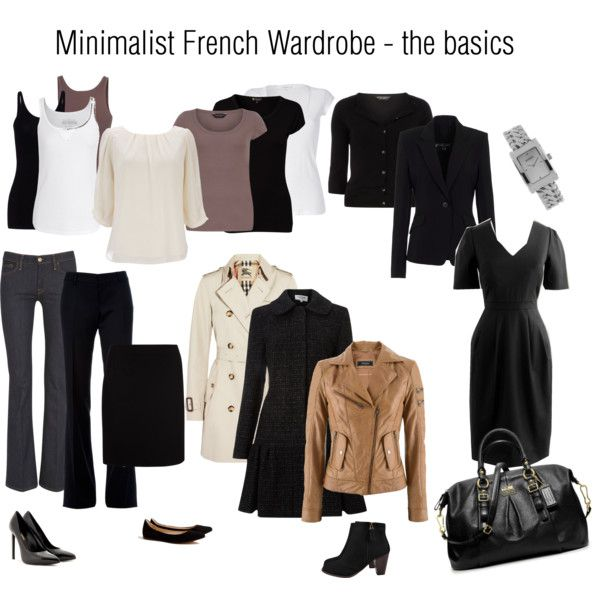 """Minimalist French Wardrobe basics"" by jennio888 on Polyvore yessss, but more black! I just want to wear black head to toe every day..."