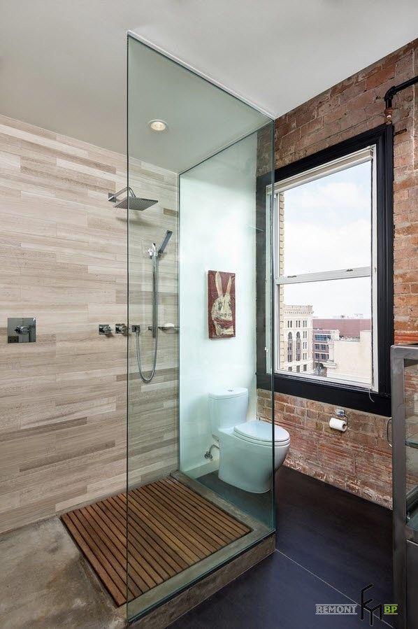 100 лучших идей дизайна современной ванной комнаты в стиле лофт на фото
