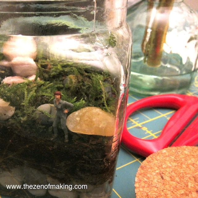 The Zen of Making: Little People in a moss Terarium - what a cute idea!